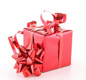 Isolated red gift box — Stock Photo
