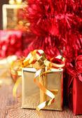 Beautiful christmas gift — Stock Photo
