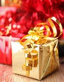 Christmas gift,studio shot — Stock Photo