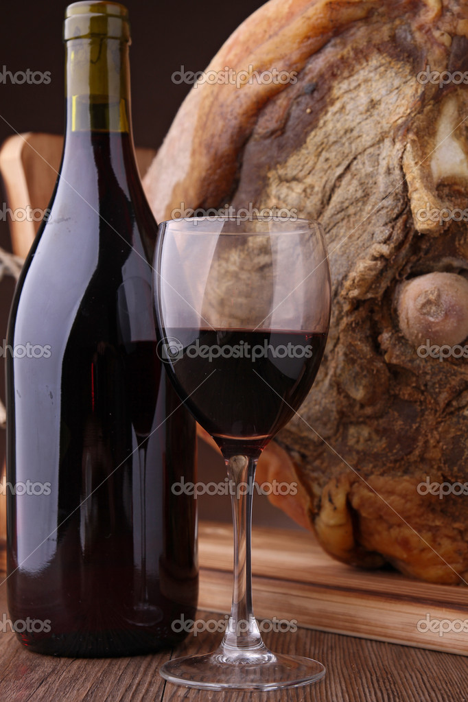 Red wine and cheese  Stock Photo #8621871