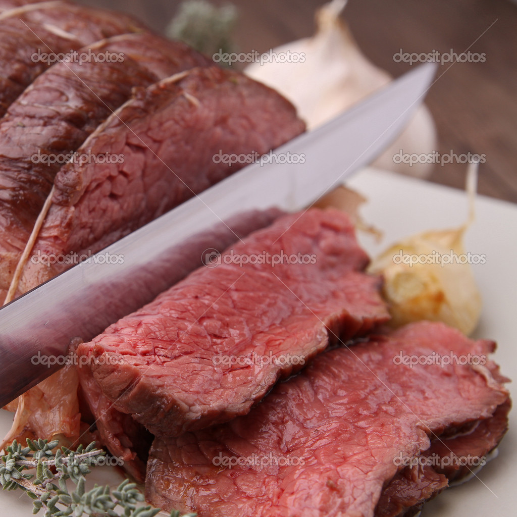 Roast beef — Stock Photo #8623886