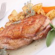 Gourmet grilled duck breast and potato — Stock Photo