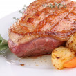 Duck meat and potato — Stock Photo #8665443