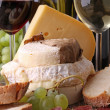 Cheese and wine — Stock Photo