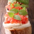 Bruschettas — Stock Photo