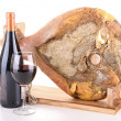 Stock Photo: Serrano ham and wine