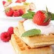 Waffle and strawberry — Stock Photo #8752705