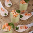 Appetizer,avocado and shrimp - Stock Photo