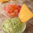 Stock Photo: Guacamole and tortilla