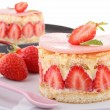 Stock Photo: Delicious strawberry shortcake