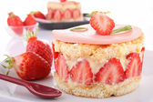 Delicious strawberry dessert — Stock Photo