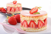 Delicious strawberry shortcake — Stock Photo
