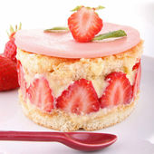 Gourmet strawberry shortcake — Stock Photo