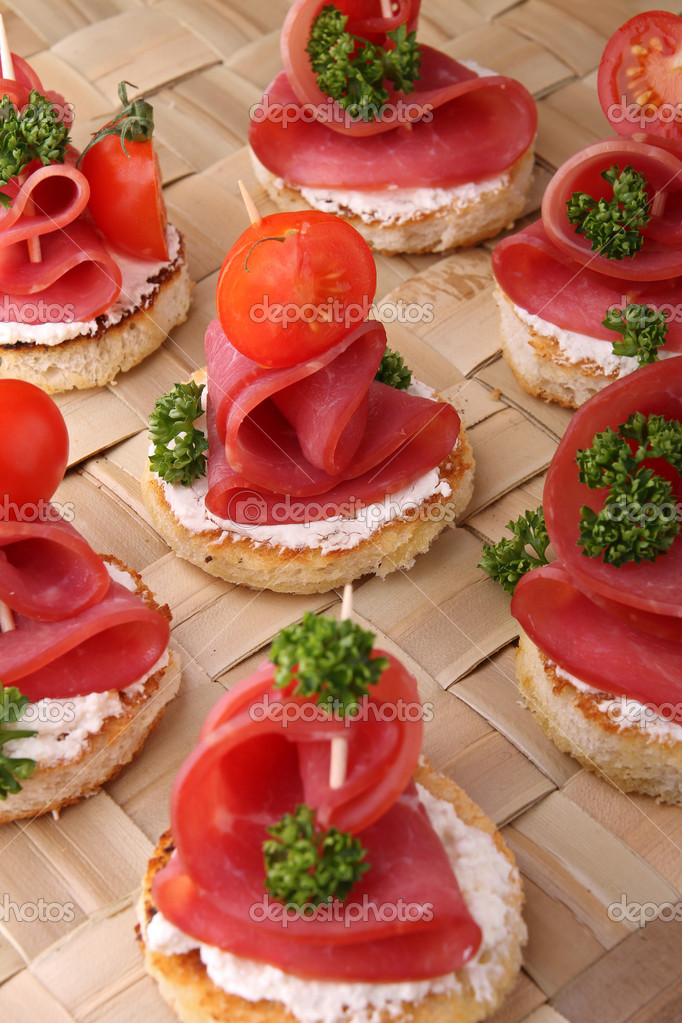 Canapes buffet food stock photo studiom 8835873 for Canape buffle