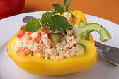 Stuffed pepper with couscous — Stock Photo