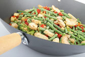 Pan with vegetables — Stock Photo
