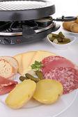 Yemek, raclette — Stok fotoğraf