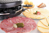 Buffet food,raclette — Stock Photo