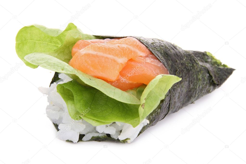 Isolated temaki — Stock Photo #8895610