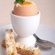 Egg boiled and toast — Stock Photo