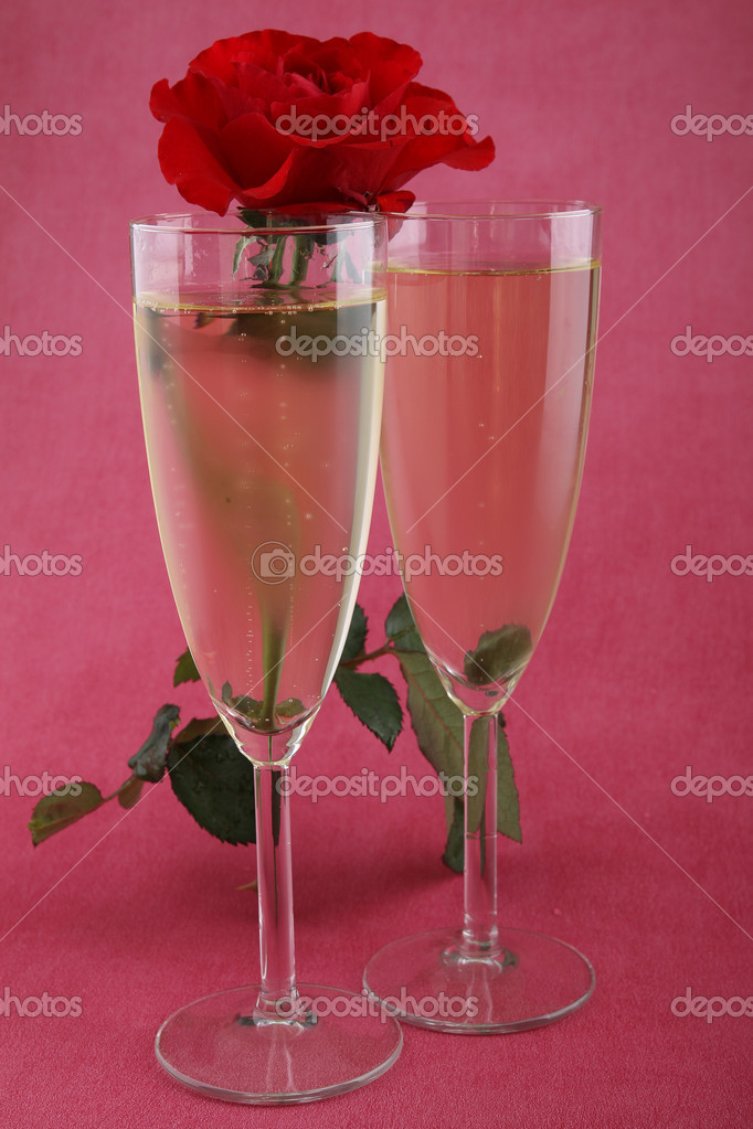 Champagne glasses — Stock Photo #8951826