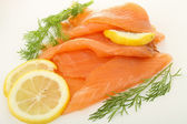 Fresh smoked salmon — Stock Photo
