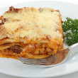 Stock Photo: Plate of lasagna