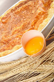 Quiche con ingrediente — Foto Stock