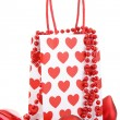 Shopping bag with decoration — Stock Photo