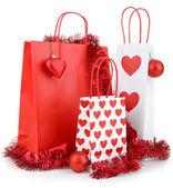 Bolso de compras de navidad aislado — Foto de Stock