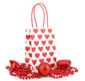 Isolated shopping bag and garland — Stock Photo