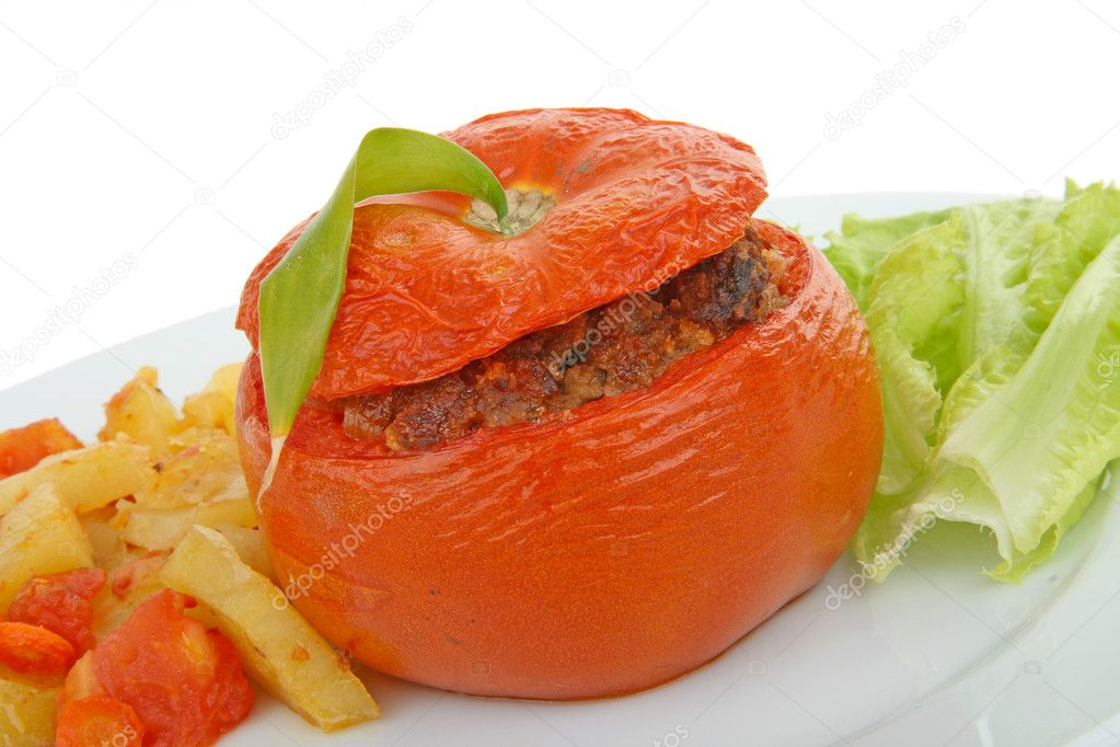 Stuffed tomato  Stock Photo #9214599
