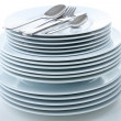 Stack of plates - Stock Photo