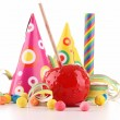 Stock Photo: Toffee apple and decoration
