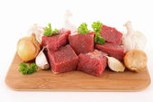 Raw meat beef on board — Stock Photo