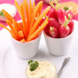 Vegetables and dip — Stock fotografie