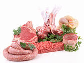 Assorted of raw meat — Stock Photo