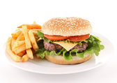 Isolated hamburger — Stock Photo