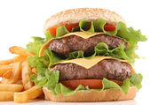 Isolated hamburger — Stock Photo