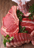 Assortment of raw meat — Stock Photo