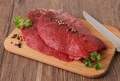 Syrové maso hovězí — Stock fotografie