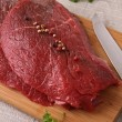 Photo: Raw beefsteak