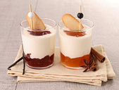 Verrine of fresh dessert — Stock Photo