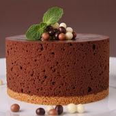 Delicioso pastel de chocolate. — Foto de Stock