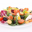 Isolated mixed salad — Stockfoto