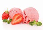 Isolated strawberry icecream — Stock Photo
