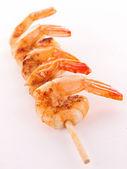 Shrimp brochette — Stock Photo