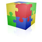Pussel kub — Stockvektor