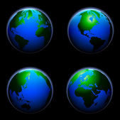 Globe spheres — Stock Vector
