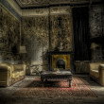 Abandoned living room — Stock Photo